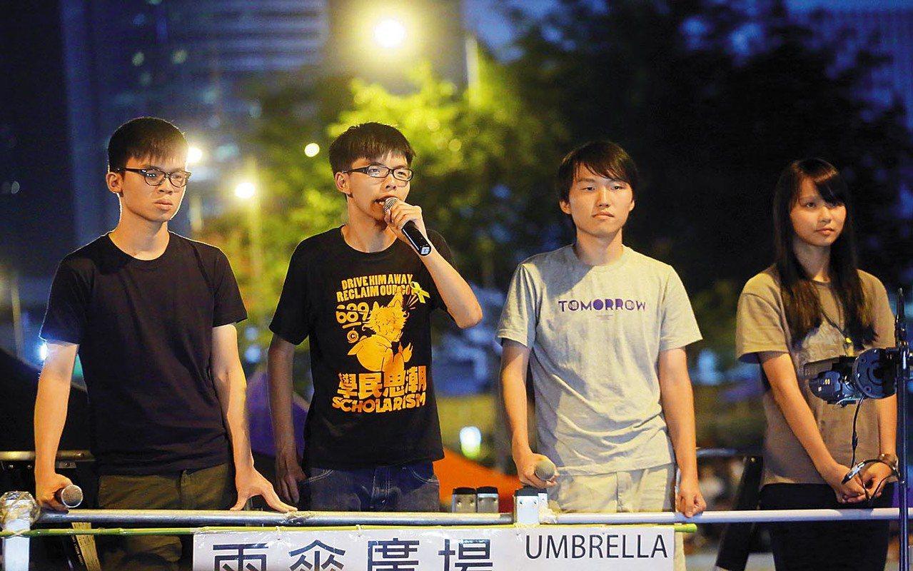 香港學民領導層爆退任 只剩黃之鋒
