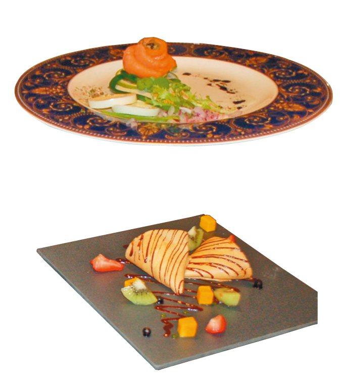 昇恆昌金湖大飯店的餐點擺盤相當精緻。 記者蔡家蓁/攝影