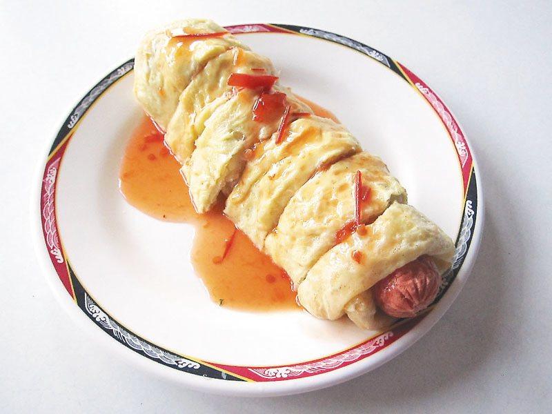 菜名聽起來頗耐人尋味的「蔥狗蛋」。 記者陳靜宜/攝影
