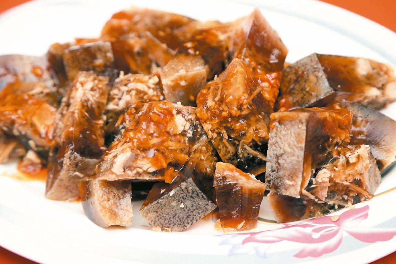 長榮商店的冰晶凍肉。 記者林俊良/攝影