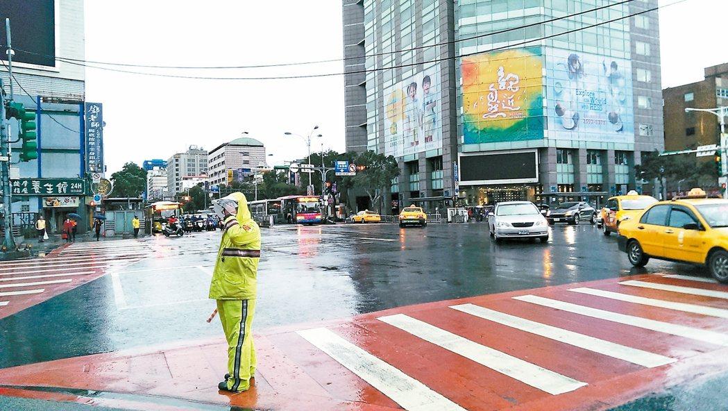 松江、民權路口。 圖/報系資料照