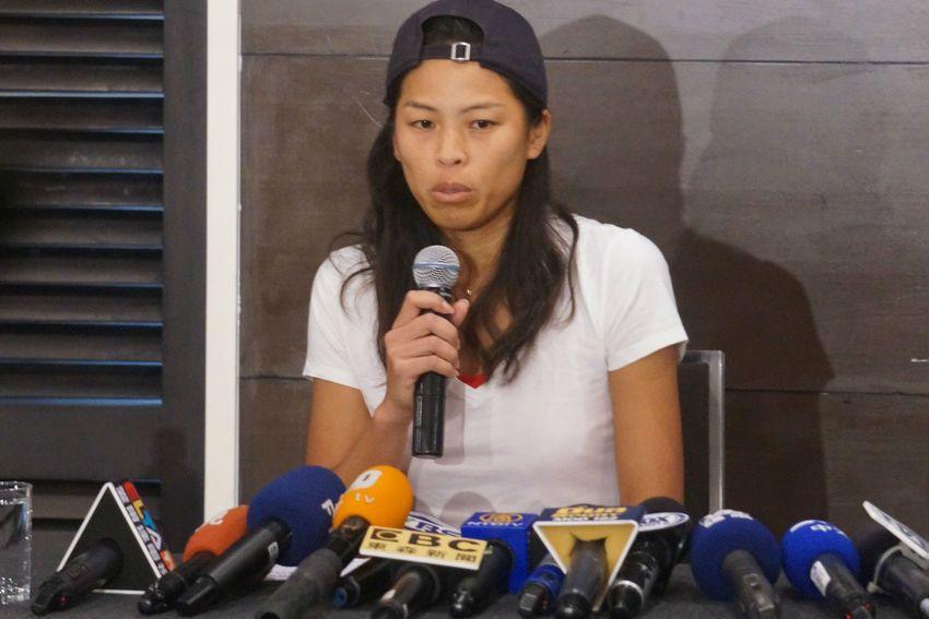 謝淑薇今晚在臉書上再度對網協選訓方式進行抨擊。  記者古碩偉/攝影