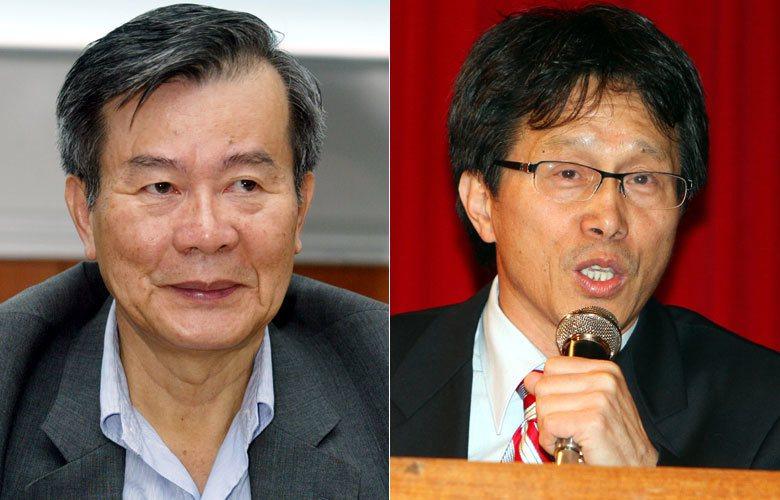 前國安會副秘書長江春男(左圖)出任新加坡大使,前新聞局長謝志偉(右圖)則出任駐德國大使。聯合報系資料照片