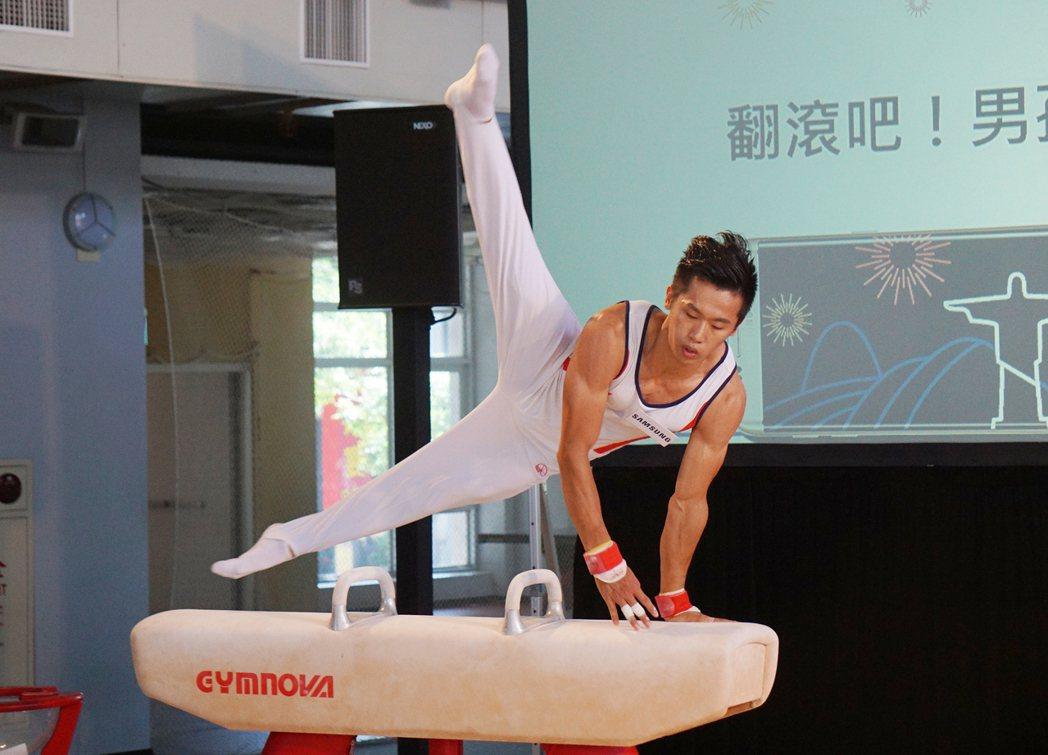 紀錄片「翻滾吧!男孩」中的李智凱(圖)為台灣取得奧運體操門票。 中央社