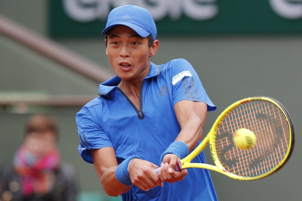 台灣網球一哥盧彥勳。美聯社
