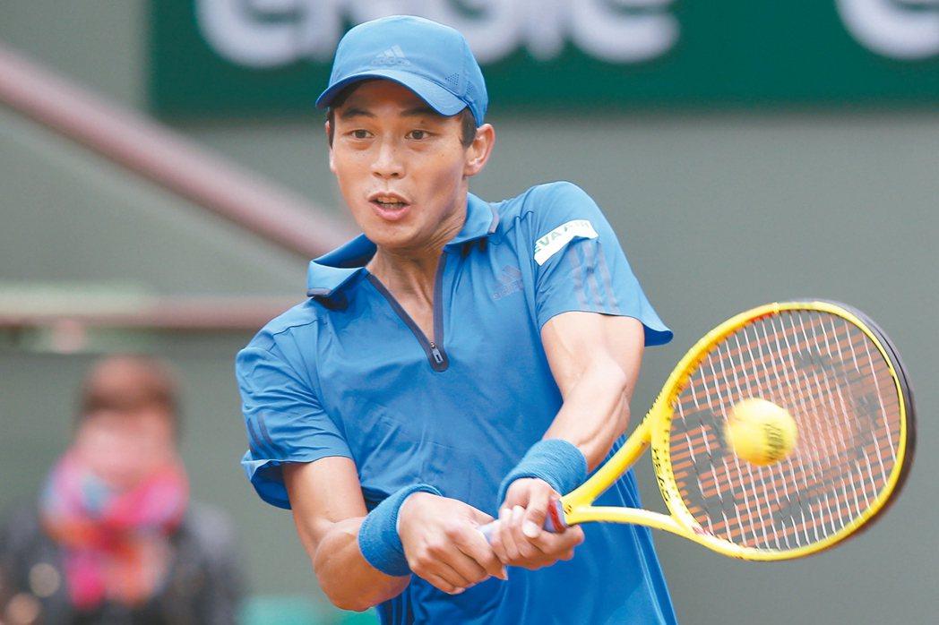 台灣網球一哥盧彥勳生涯第四度參與奧運賽會。 美聯社