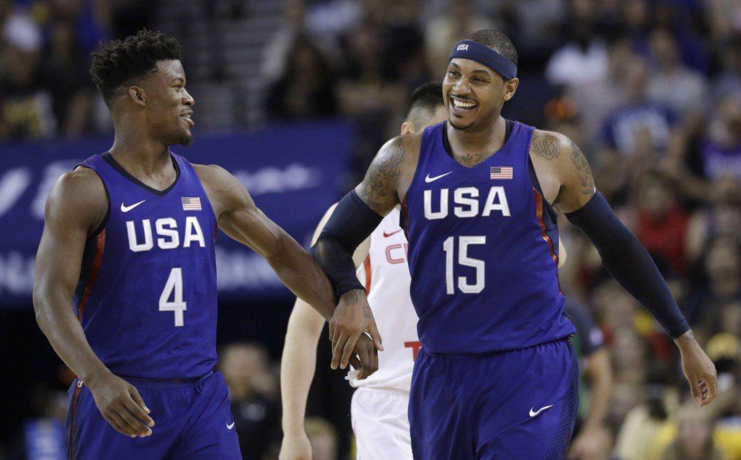 美國對第三場熱身賽依舊大勝大陸,但球員在場上high過頭,讓K教練不太滿意。 美...