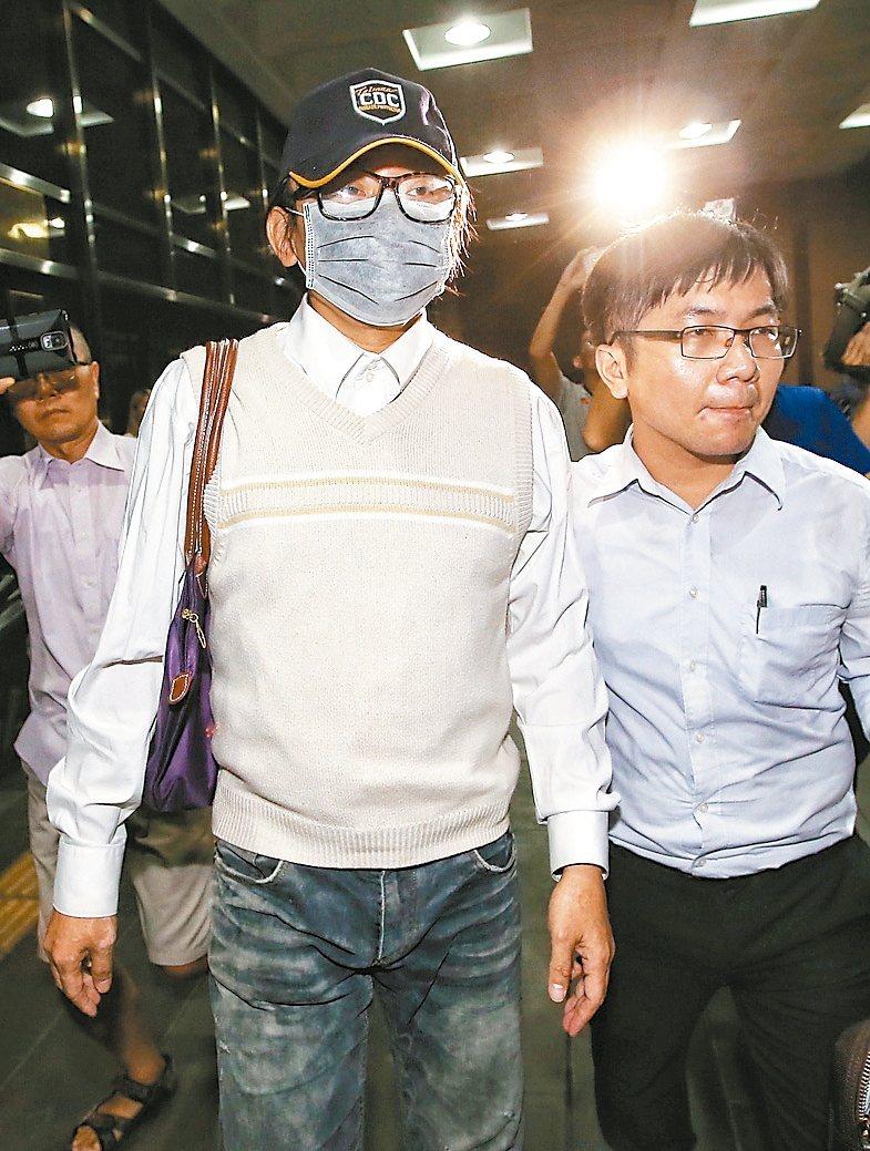 藝人秦偉(左)被控涉嫌性侵,檢察官訊後以五十萬元交保。 記者高彬原/攝影