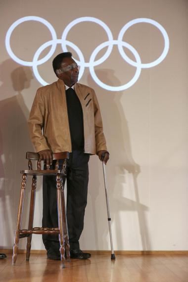 巴西的前世界球王比利(Pelé)可能成為點燃奧運聖火的人。歐新社