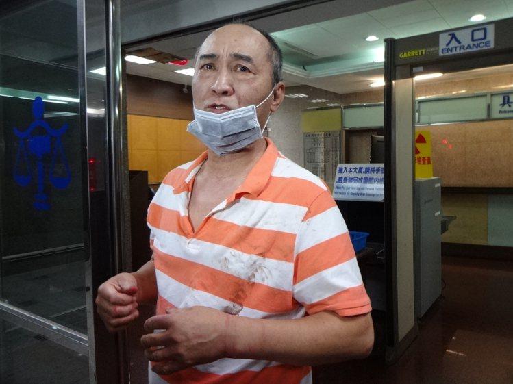 現為廚師的吳志展2日犯下砍警案。 記者袁志豪/攝影