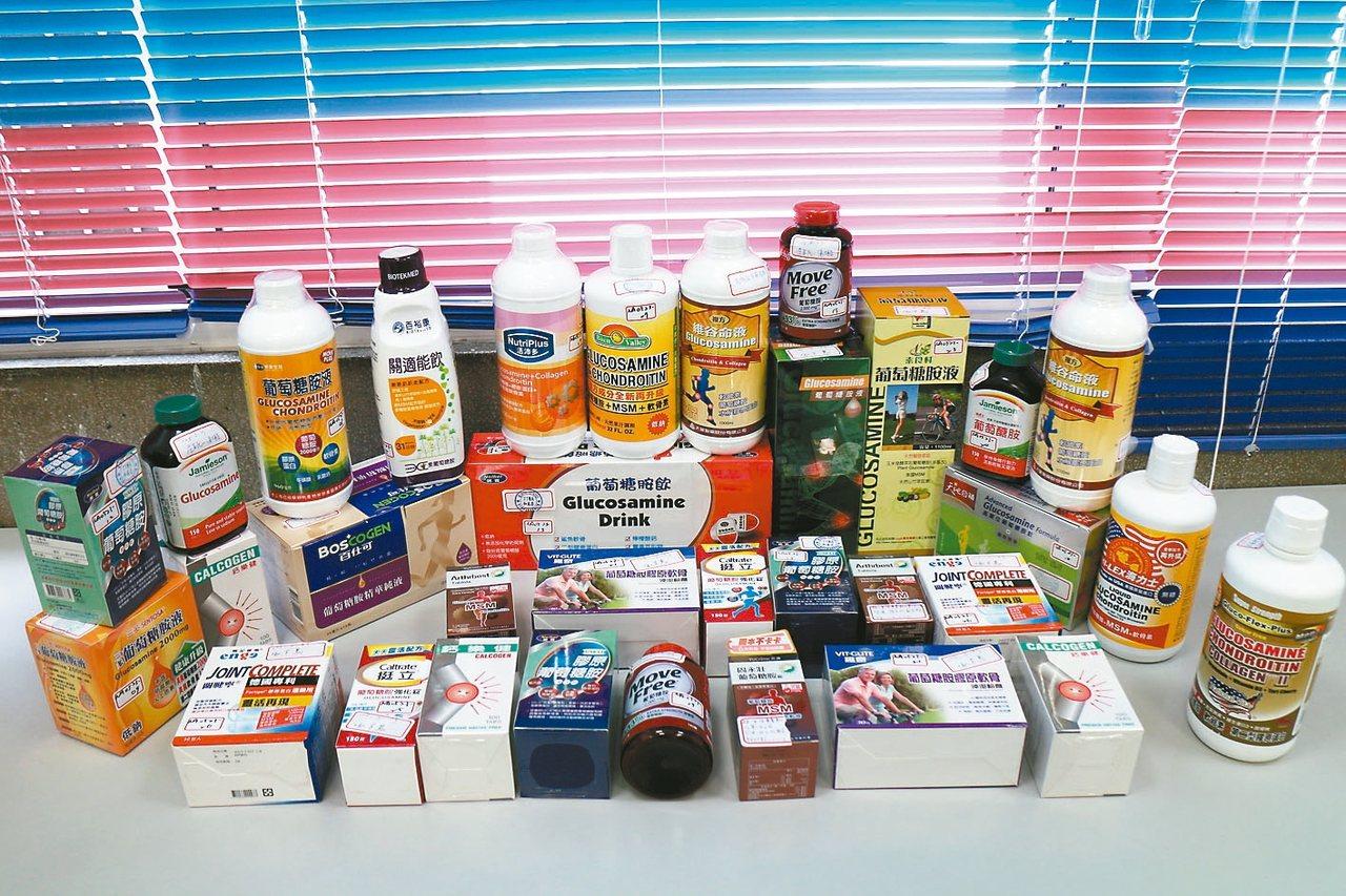 市售葡萄糖胺保健食品很多,未必如標示有充足含量,均衡飲食和經常運動才是保健王道。...