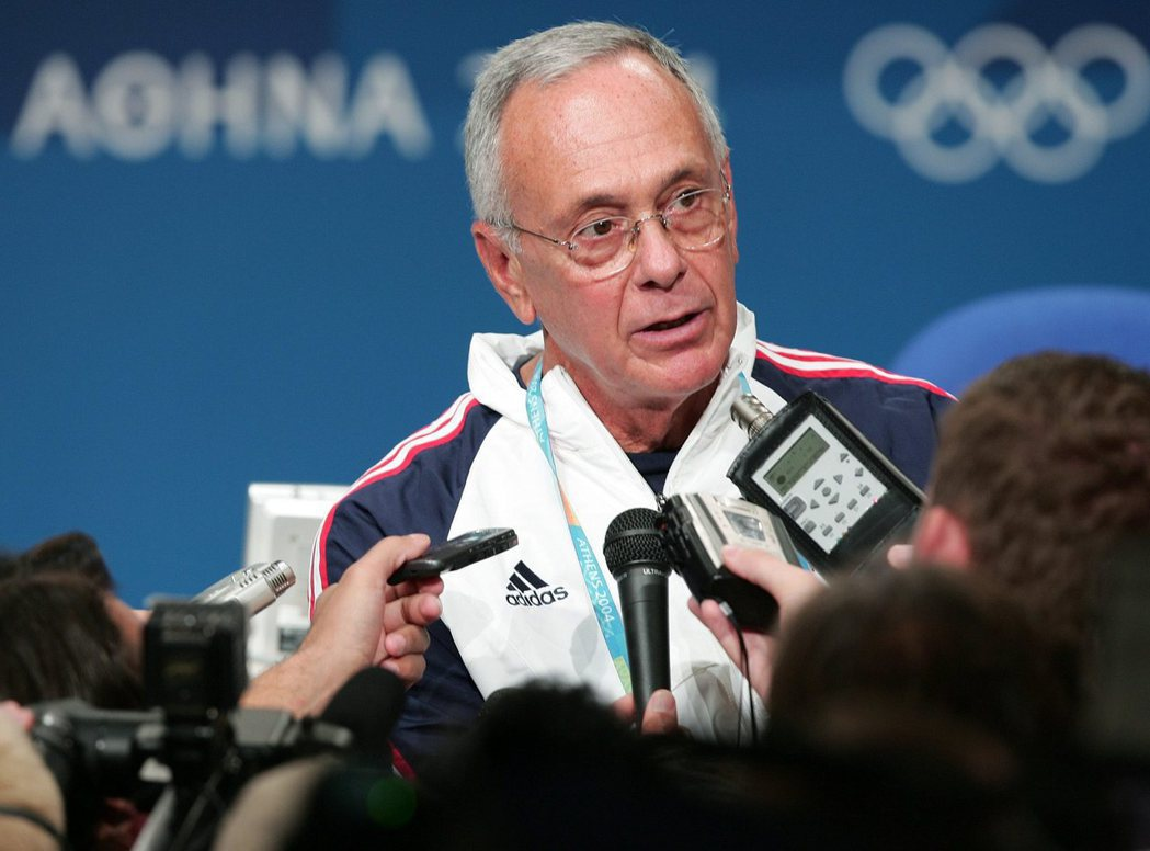 2004年雅典奧運美國隊教頭布朗。 歐新社