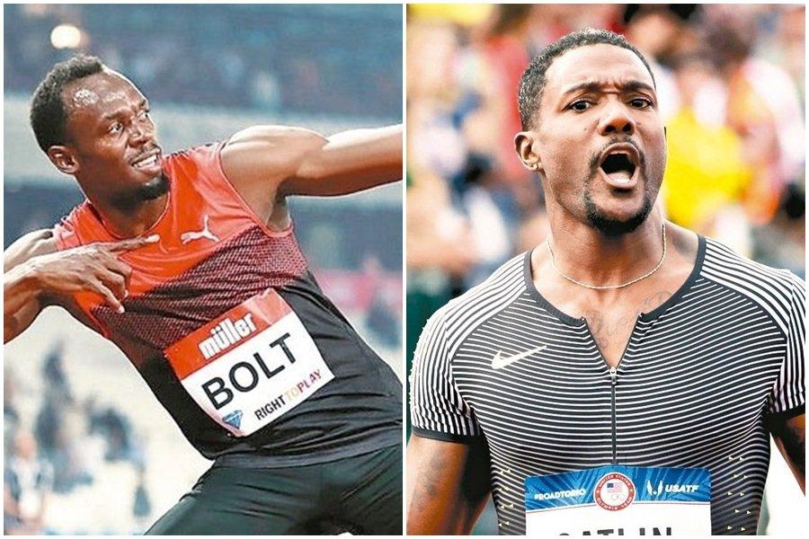 柏特與蓋特林在百公尺短跑的對決舉世注目。 路透、美聯社
