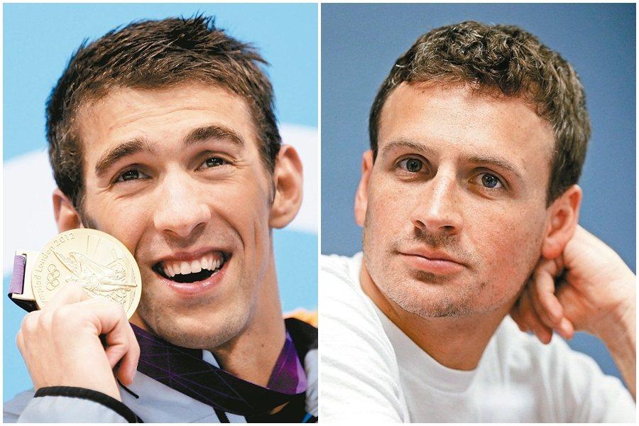 本屆奧運有可能是菲爾普斯(左)與洛克特(右)最後一次對決 美聯社