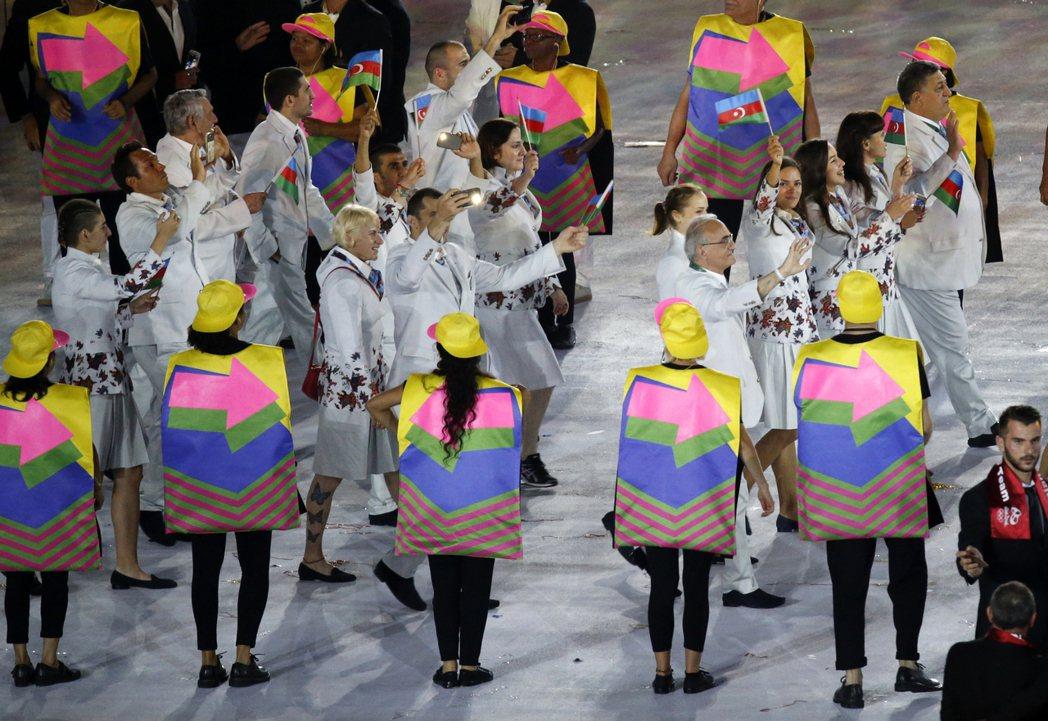 圖為奧運開幕的畫面。 圖/歐新社