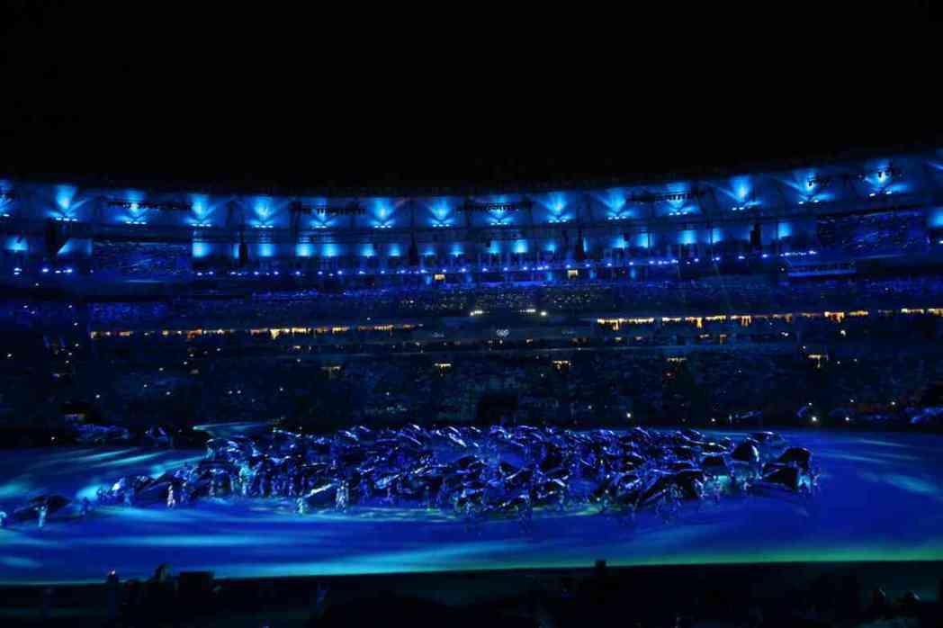 巴西里約奧運開幕,現場非常美麗。特派記者陳正興/里約5日電