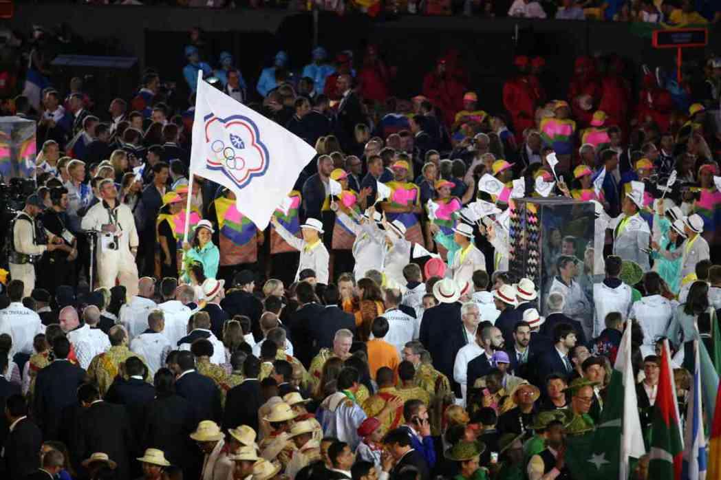里約奧運開幕典禮,中華奧運代表隊在掌旗官汪亦岫帶領下進場。 特派記者陳正興/里約...