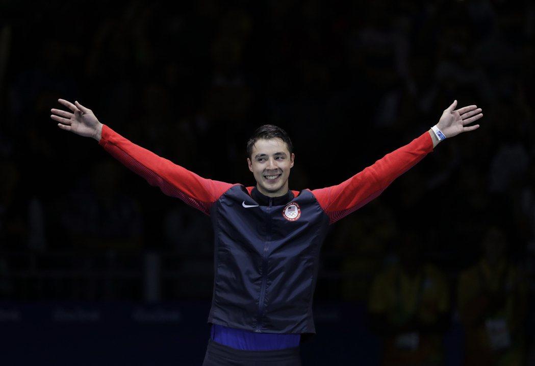 馬西亞拉斯(見圖)在奧運男子個人鈍劍決賽,以11:15不敵義大利擊劍好手加羅佐屈...