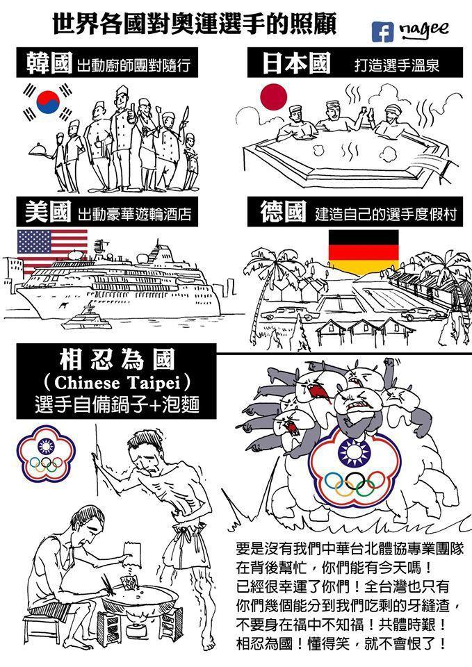 相較於中華隊的克難,許多先進國家對奧運選手都有高規格的待遇。nagee臉書授權使...