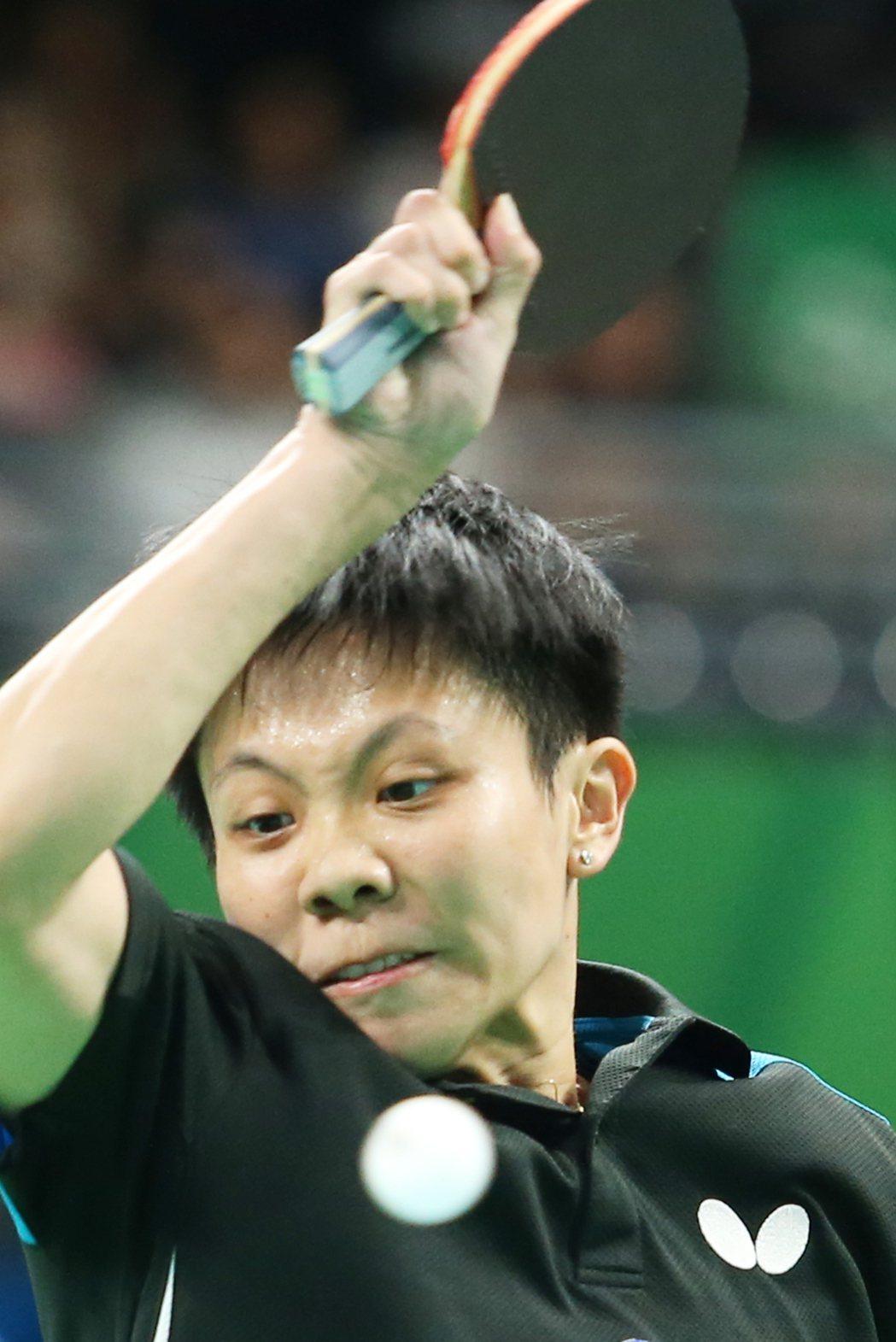 里約奧運女子桌球上午舉行,中華台北鄭怡靜(圖)出戰白俄羅斯的維克托莉亞·帕芙洛薇...