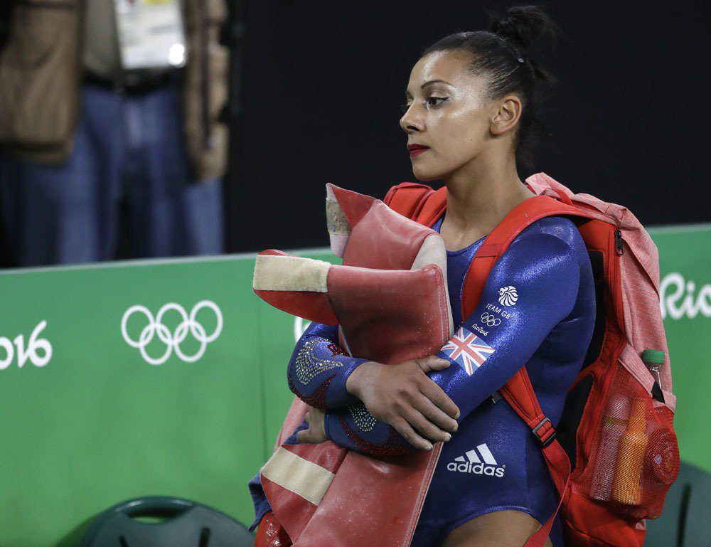 英國女子體操選手道妮。 美聯社