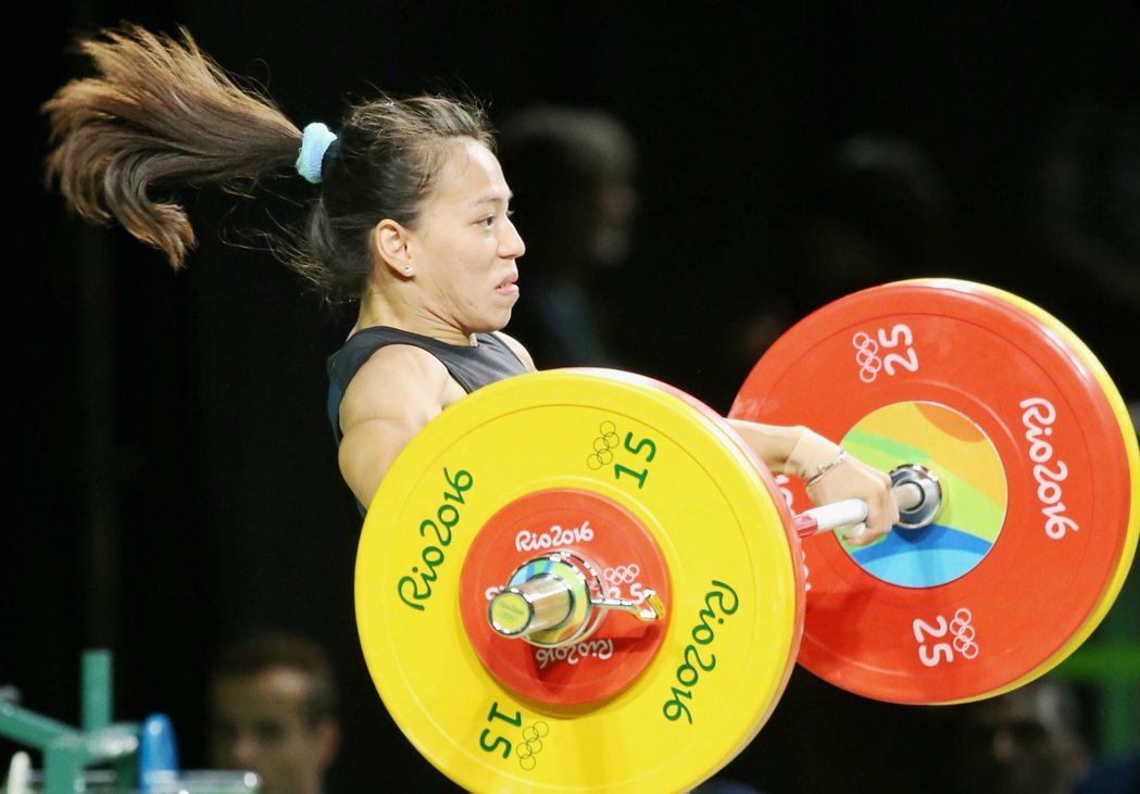 里約奧運女子舉重58公斤級比賽,我國女將郭婞淳奪銅。 特派記者陳正興/攝影
