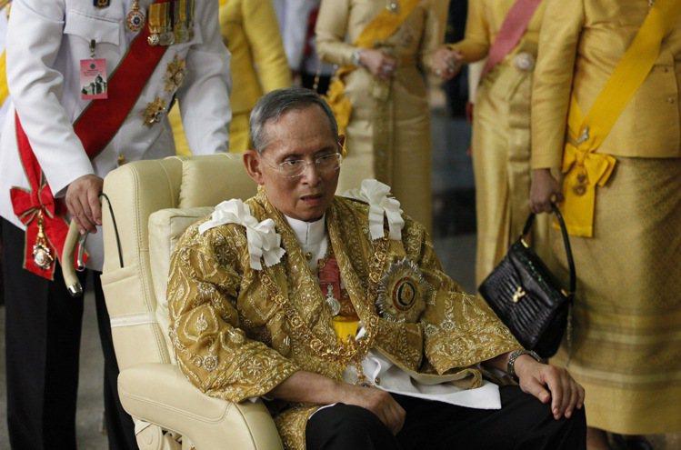 泰國國王蒲美蓬。 圖/路透社資料照