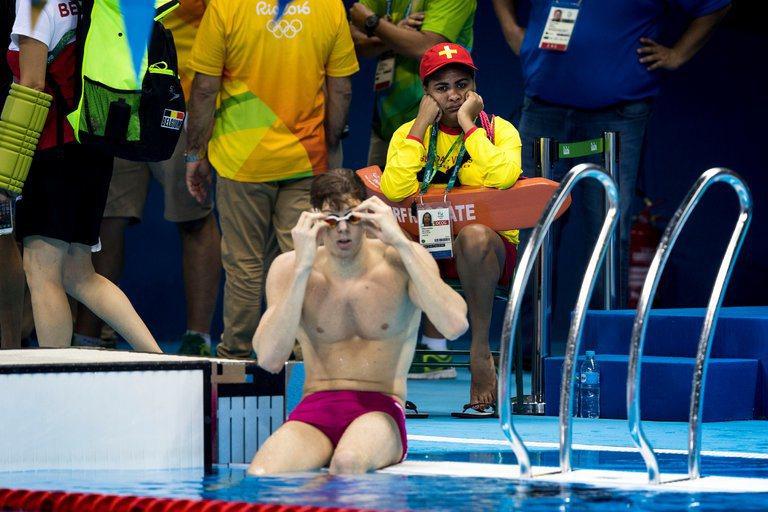 奧運游泳、跳水、水上芭蕾等項目,需設置大約75名救生員。圖擷自The New Y...
