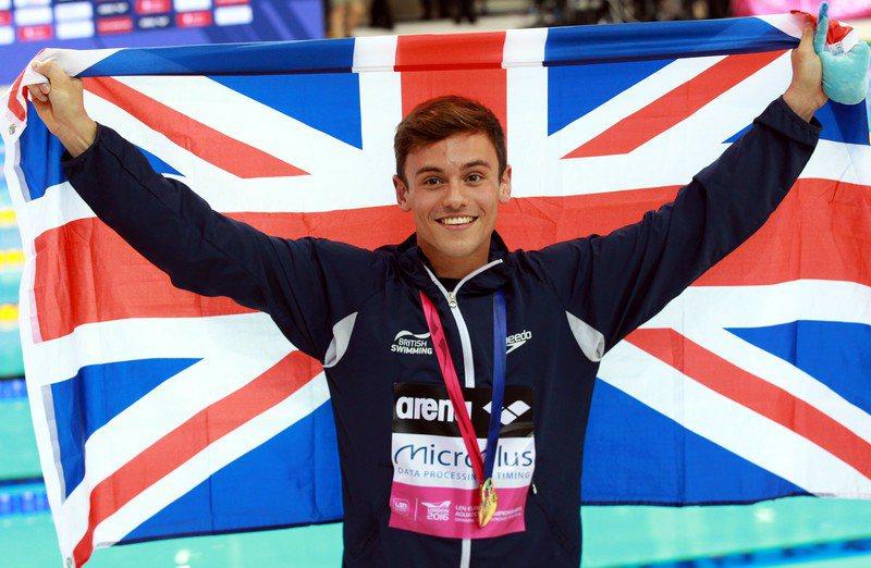 英國跳水金童Tom Daley。 圖/歐新社