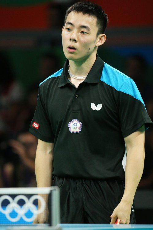 中華隊桌球男單陳建安。特派記者陳正興/攝影