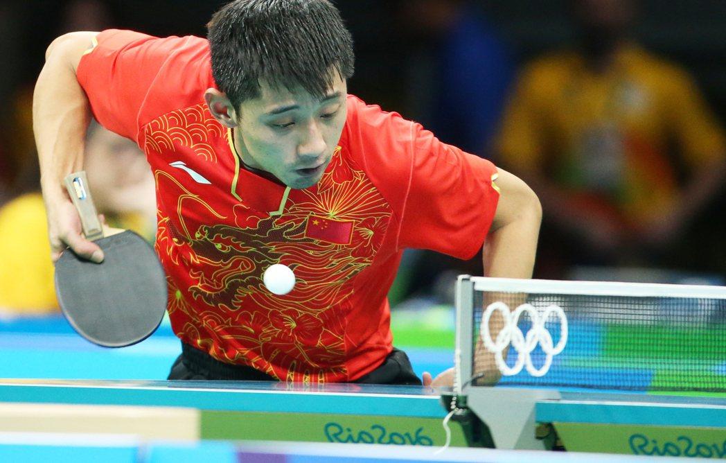 中國敦奧金牌選手張繼科。特派記者陳正興/攝影