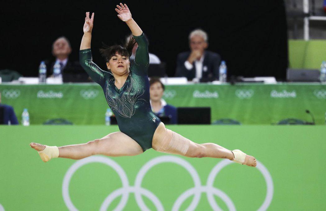墨國莫雷諾參加體操賽,身材卻受批評。 路透