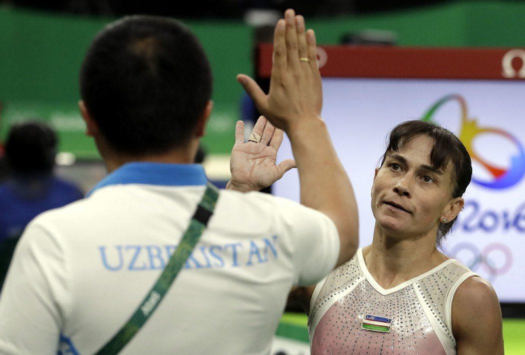 烏茲別克籍體操老將丘索維金娜。美聯社