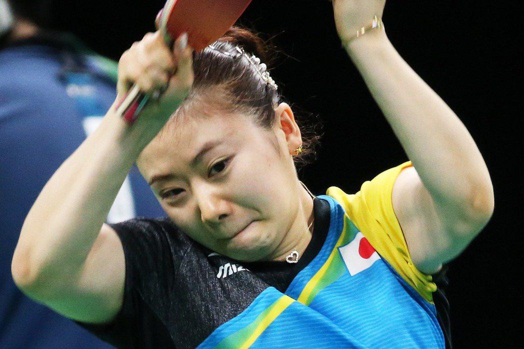 日本桌球「小可愛」福原愛在里約奧運桌球殺入女單4強。 特派記者陳正興/攝影