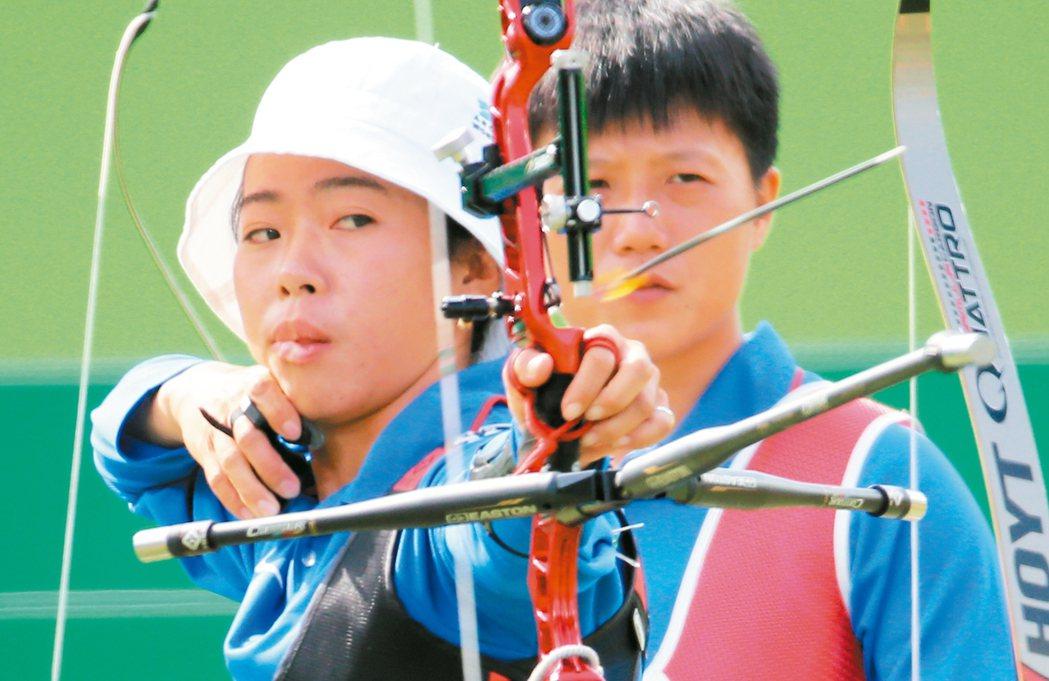 中華隊譚雅婷,在奧運女子射箭闖進16強。 本報資料照片
