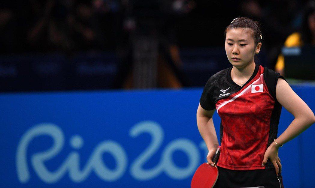 日本桌球明星福原愛(圖)在里約奧運女單銅牌戰不敵北韓金頌一,無緣奪牌。 ...