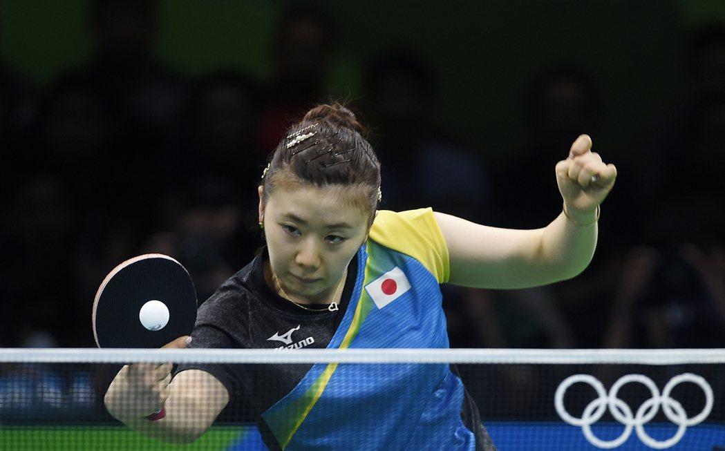 日本桌球隊員福原愛在女單獲第四名。 歐新社