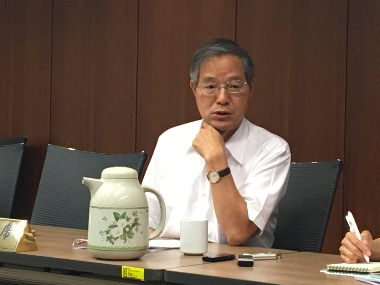 國發會主委陳添枝今天分享對物聯網的看法。記者高詩琴/攝影