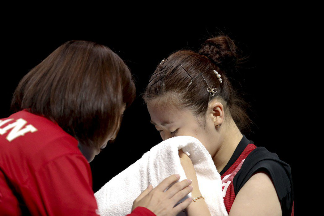 里約奧運桌球女單銅牌爭奪戰,日本選手福原愛落敗。  中新社