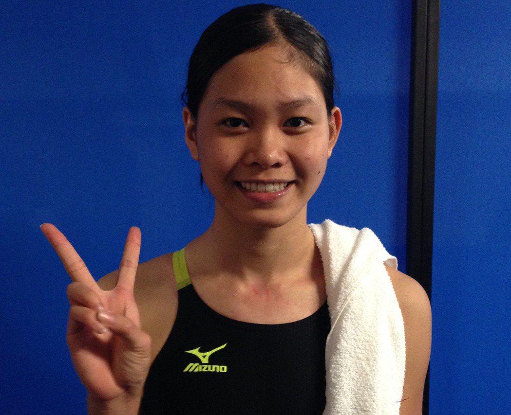 游泳小將林姵彣在女子50公尺自由式預賽止步。特派記者劉肇育/攝影