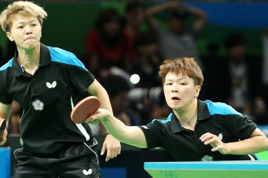 里約奧運桌球女子團體賽中華臺北出戰香港,以1:3落敗。聯合報特派記者陳正興/攝影