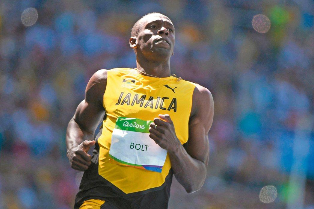 牙買加的柏特在里約奧運男子一百公尺預賽輕鬆跑,闖進準決賽。 法新社