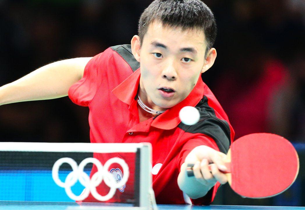 里約奧運桌球男團下午舉行,中華台北出戰德國,中華台北陳建安不敵對手,輸掉一分。特...