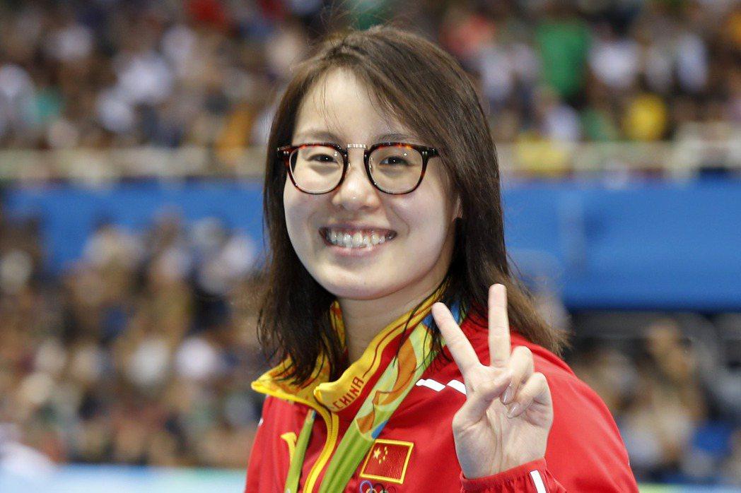 傅園慧今天在4x100混合式出賽。 新華社