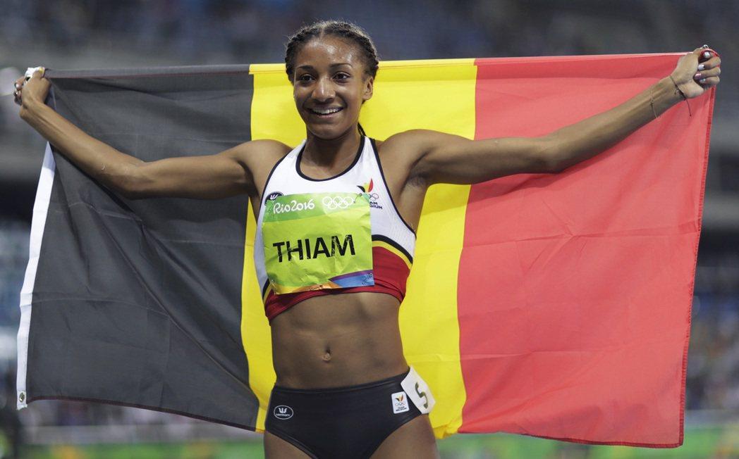 比利時女將蒂亞姆獲田徑女子七項金牌。 美聯社
