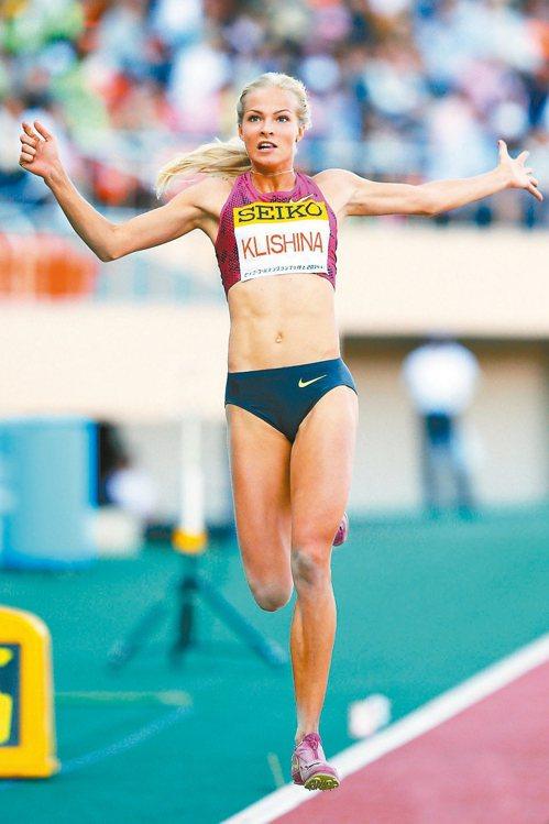 俄羅斯跳遠選手Darya Klishina。 圖/達志影像