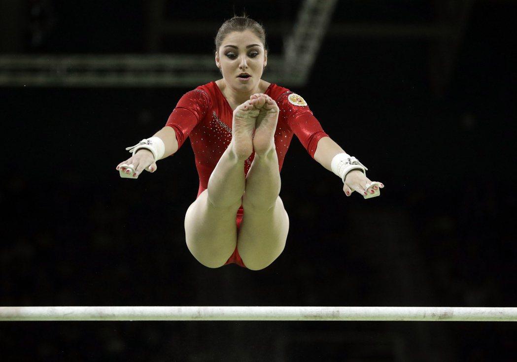 俄羅斯女子體操選手穆斯塔芬娜。 美聯社
