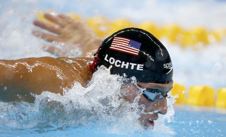 奧運游泳金牌得主瑞安‧洛捷迪(Ryan Locht)。 圖擷自路透