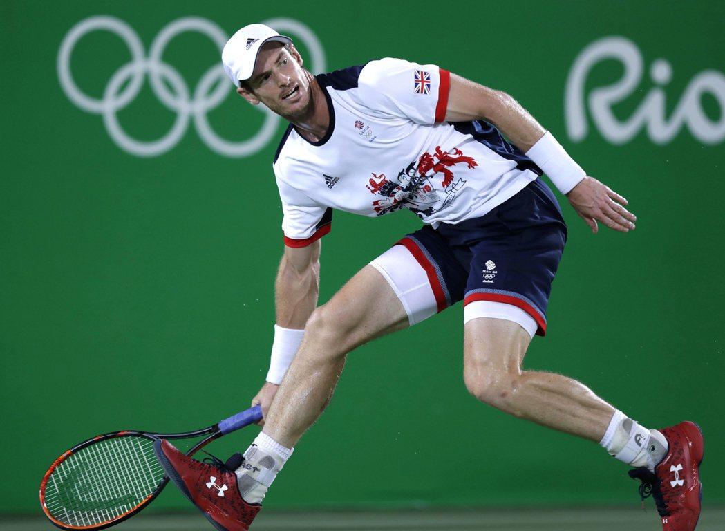 墨瑞衛冕男子網球金牌。 美聯社