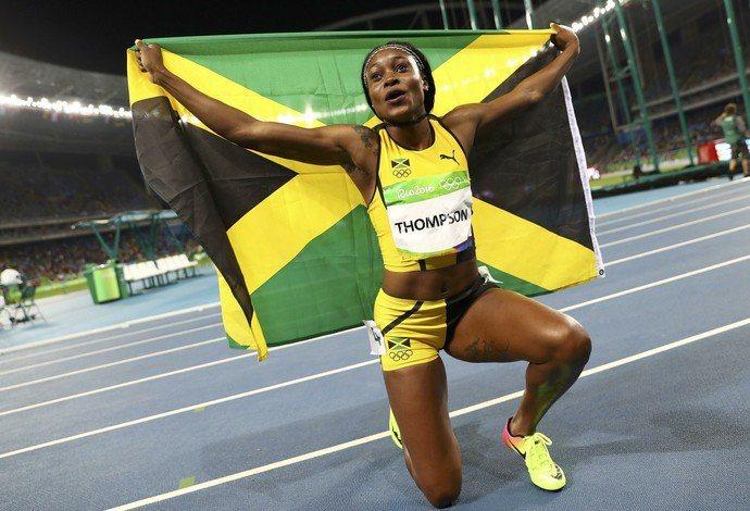 奧運女飛人湯普森(Elaine Thompson)奪得女子百米金牌。圖/路透社